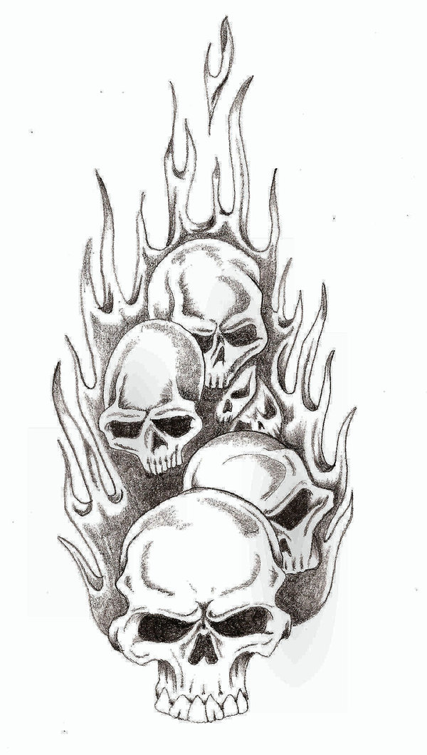 Ssckull clipart flame drawing TheLob Skull DeviantArt drawlings TheLob