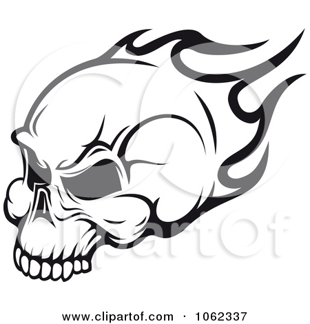 Ssckull clipart flame drawing Free Clipart Royalty clip Flaming