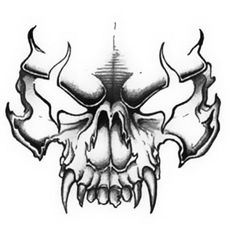 Drawn ssckull flame Pinterest Skull drawlings tattoo by