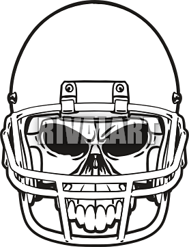 Ssckull clipart football #9