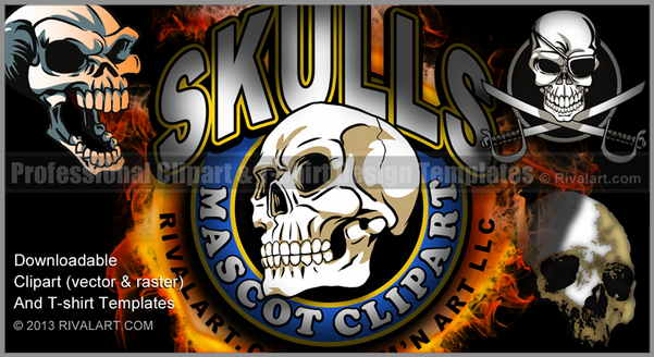 Ssckull clipart football #5