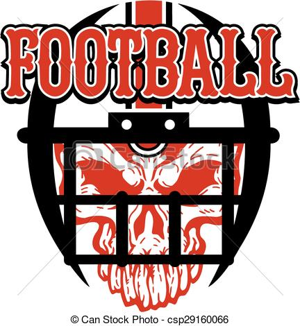 Ssckull clipart football #14
