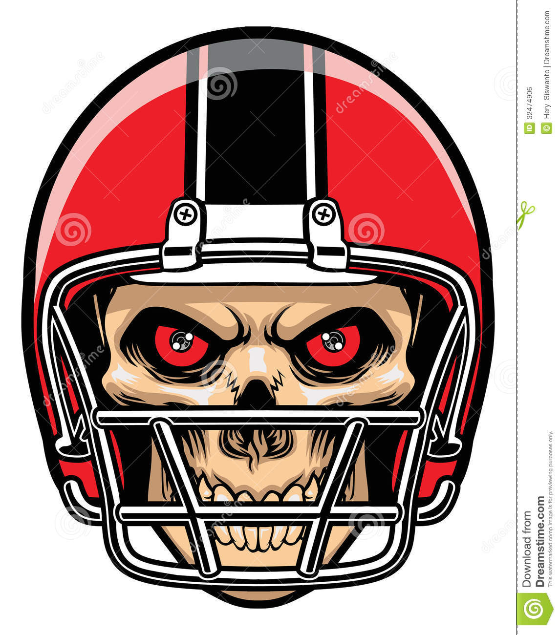 Ssckull clipart football #12