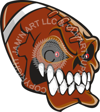 Ssckull clipart football #4