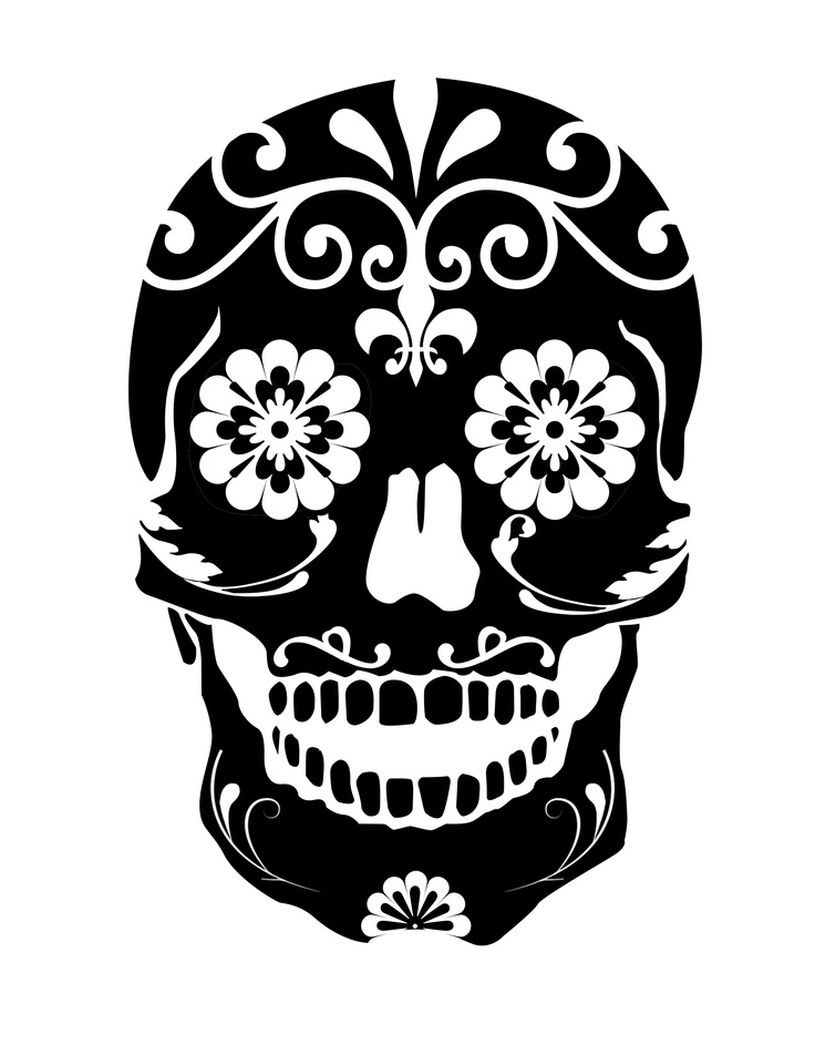 Sugar Skull clipart pattern Download Pic Of on Skull