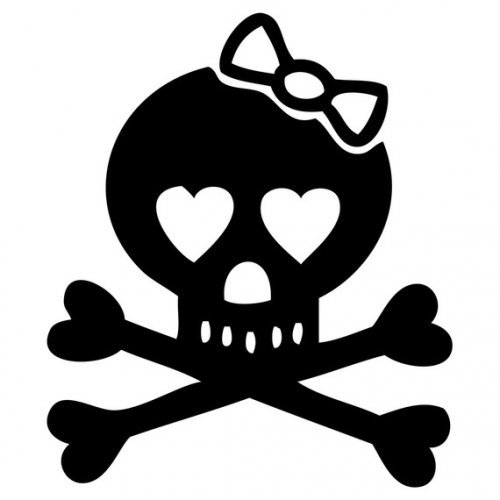 Ssckull clipart friendly Girly 1 detail Skull friendly