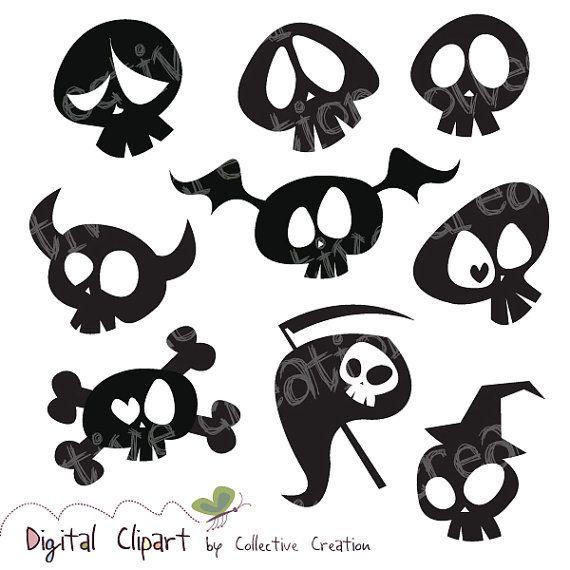 Ssckull clipart friendly Silhouette Scrapbooking Cartoon Clipart Making