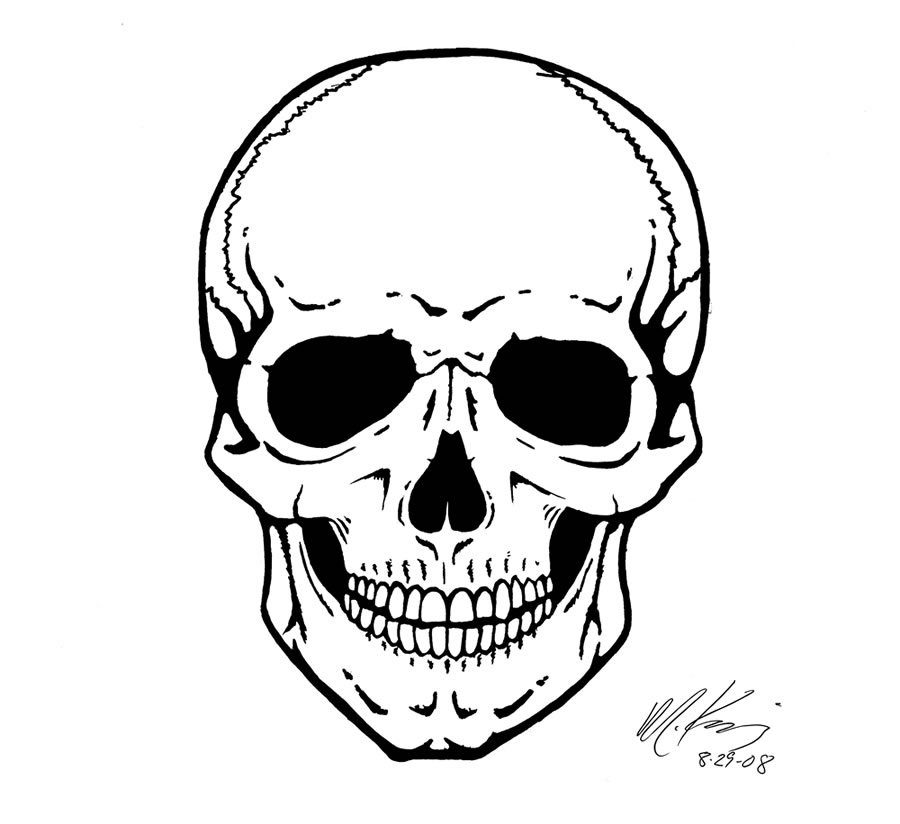 Ssckull clipart front #7