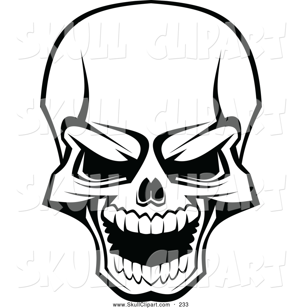 Ssckull clipart graphic art Scary Skull  Clipart