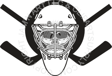 Ssckull clipart hockey #3