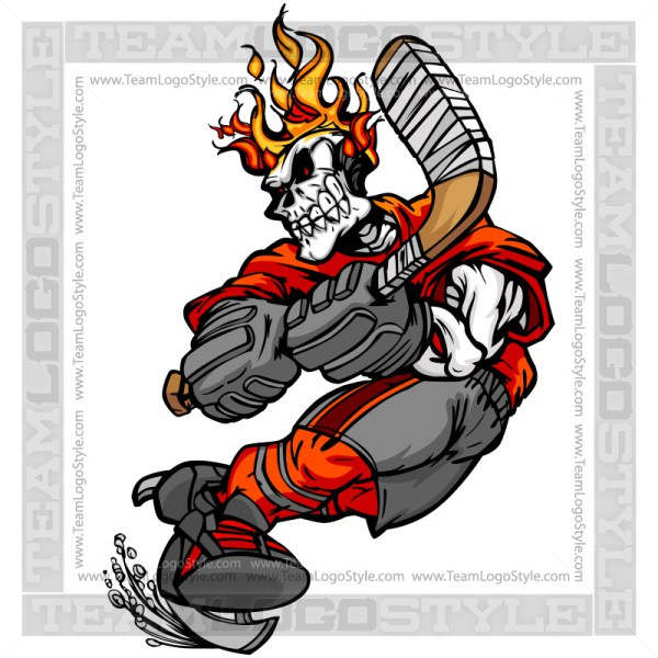 Ssckull clipart hockey #5