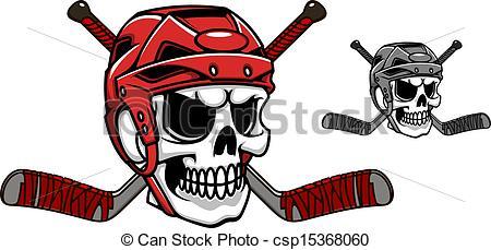 Ssckull clipart hockey Art of in helmet Skull