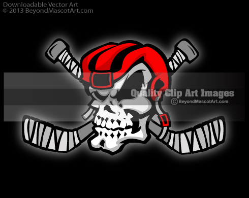 Ssckull clipart hockey #1