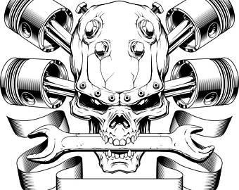 Ssckull clipart mechanic  Bike Mechanic PNG #14