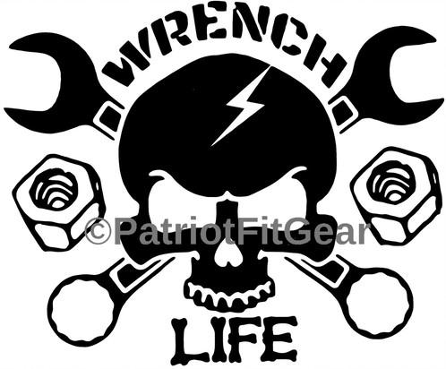 Ssckull clipart mechanic Tech 75 Mechanic 6 Decals