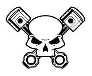 Ssckull clipart mechanic On Piston 22 Pinterest Skulls