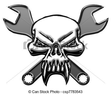 Ssckull clipart mechanic Mechanics with csp7783543 Skull