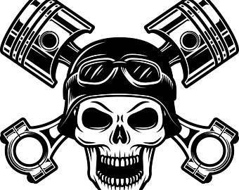 Ssckull clipart mechanic Etsy clip Auto Logo Pistons