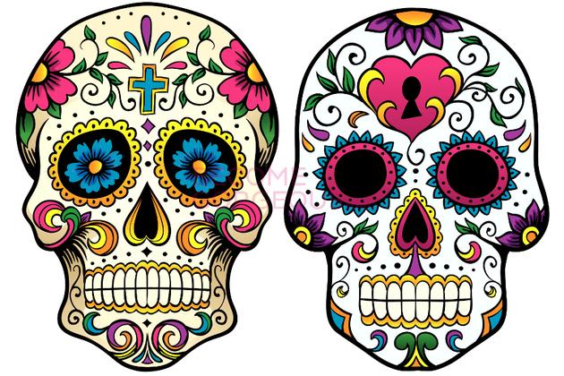 Ssckull clipart mexican skull Clipart Sugar Mexican Clip Black