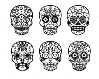 Sugar Skull clipart mexican Mexican of Instant art Digital