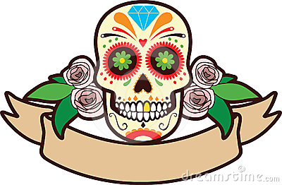 Sugar Skull clipart mexican Art Clip Mexican Cliparts Download
