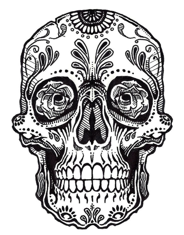 Sugar Skull clipart mexican Skulls Sugar Sugar drawings pages