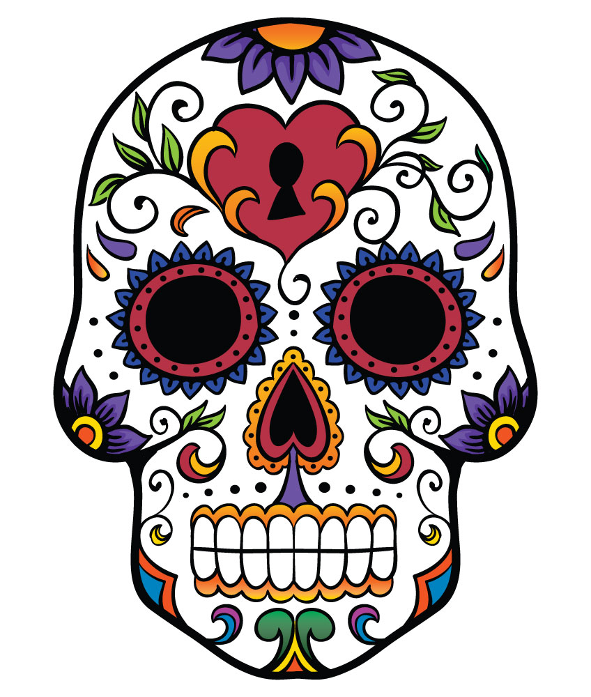 Sugar Skull clipart mexican Skull Pinterest Search skull Search