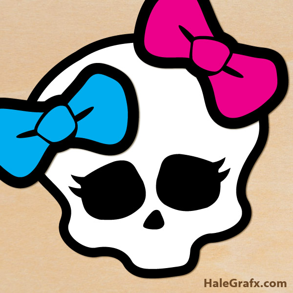 Ssckull clipart monster high High Free Pin Skull Printable