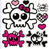 Ssckull clipart pink #12