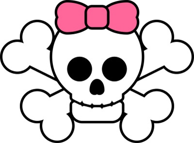 Ssckull clipart pink #7