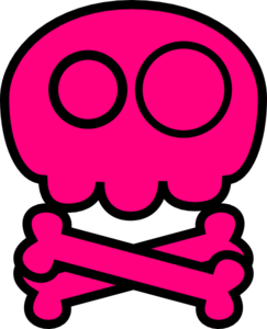 Ssckull clipart pink #3