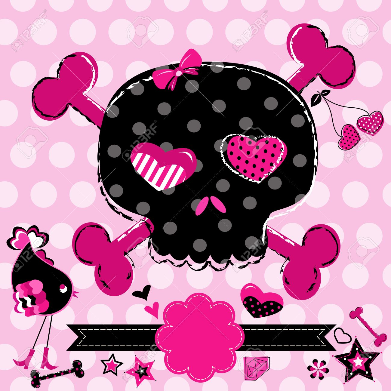 Ssckull clipart pink #14