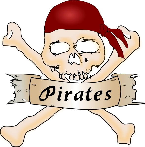 Ssckull clipart pirate skull In office vector Pirate