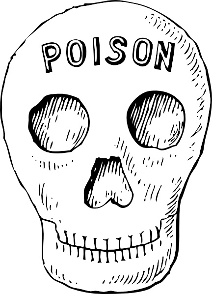 Ssckull clipart poison Office Free drawing vector clip