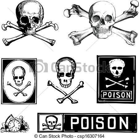 Ssckull clipart poison Clipart Vector Clip Poison Clipart