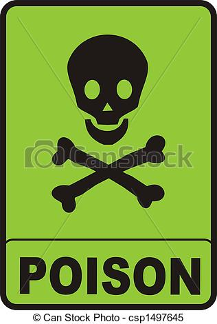 Ssckull clipart poison  royalty Clipart green 17