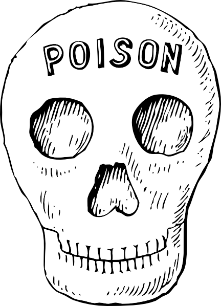 Ssckull clipart poison Clip at art Clker image