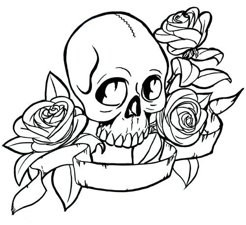 Ssckull clipart rose #3