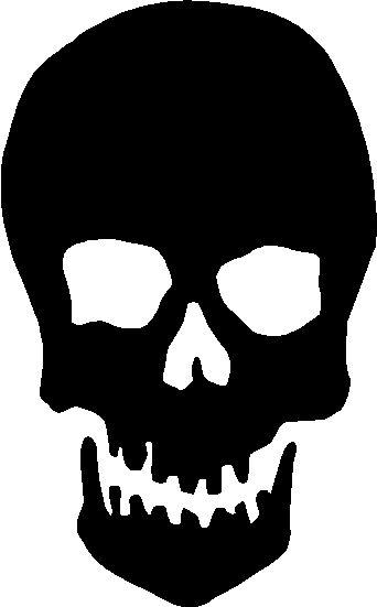 Sleleton clipart silhouette Arthursclipart ideas Pinterest Skull Image