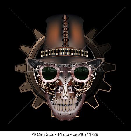 Top Hat clipart steampunk Wearing Steampunk top  csp16711729