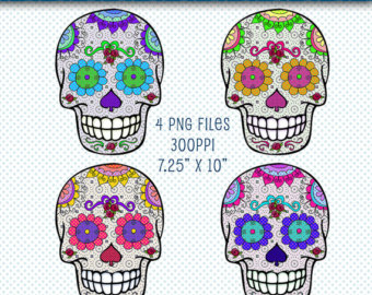 Day Of The Dead clipart girly skull Day clipart Skulls Clipart the