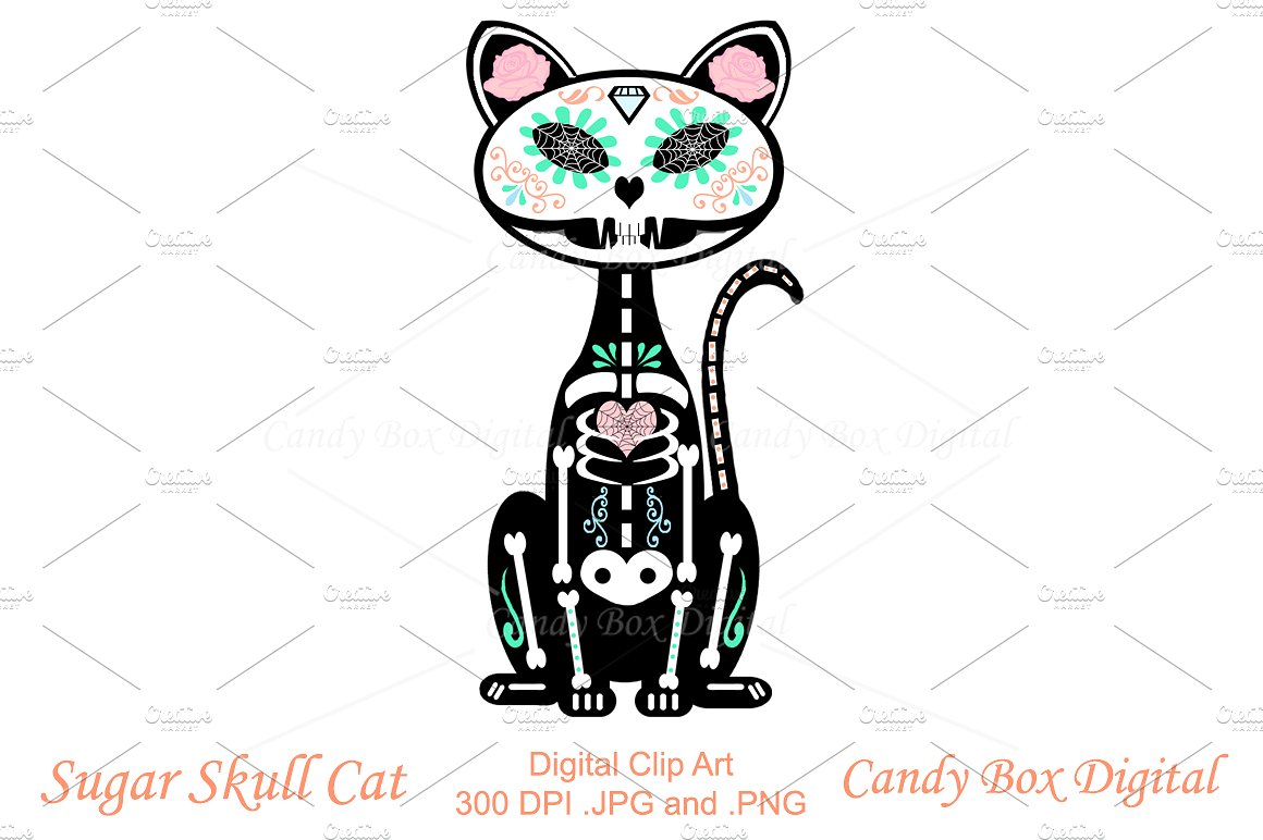 Ssckull clipart sugar skull Clip Photos Fonts Templates Themes