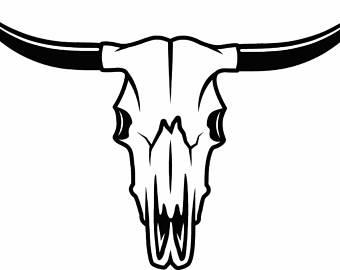 Ssckull clipart texas longhorn Bull Skeleton Country Cattle Etsy