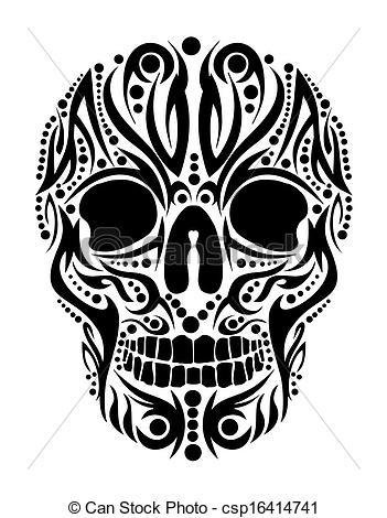 Sugar Skull clipart tribal Art Search tattoo of tribal