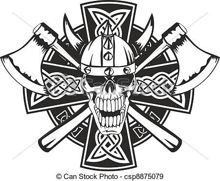 Ssckull clipart viking Celtic EPS crossed skull and