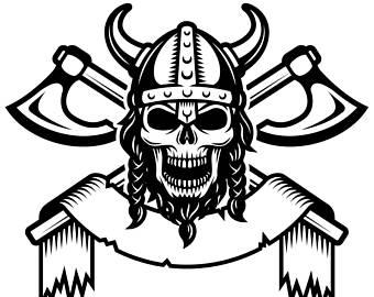 Ssckull clipart viking Horns clipart Instant SVG Viking