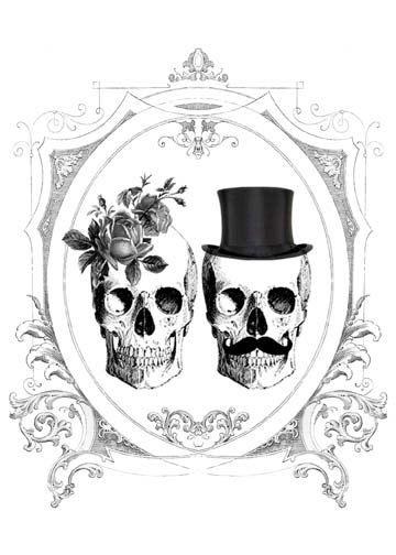 Ssckull clipart wedding Black Roses Skulls about Invitations