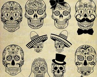 Ssckull clipart wedding Skull invitations Wedding Dead Muertos