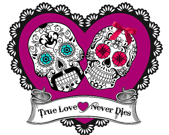 Day Of The Dead clipart girly skull Day the skull Printable Art