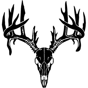 Ssckull clipart whitetail deer Sportsman Hunting Style Automotive Skull